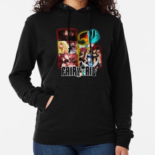 Fairy Tail - Natsu, Erza, Gray y Lucy Lightweight Hoodie