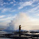 fishing at dawn by Sue Hammond