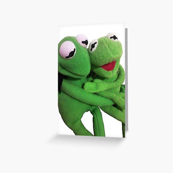 kermit hug Greeting Card