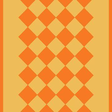 Orange and Gold Geometric by STHogan