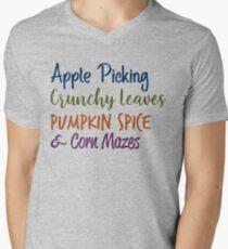 Favorite Fall Things Men's V-Neck T-Shirt