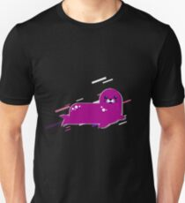 Harbor seal Eighties Retro Violet and Purple Unisex T-Shirt
