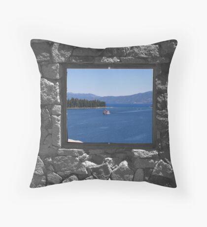 Emerald Bay Window Throw Pillow