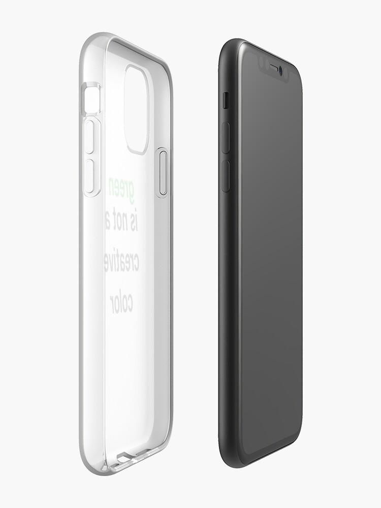 Coque iPhone «le vert n'est pas une couleur créative», par SarahLovesBands