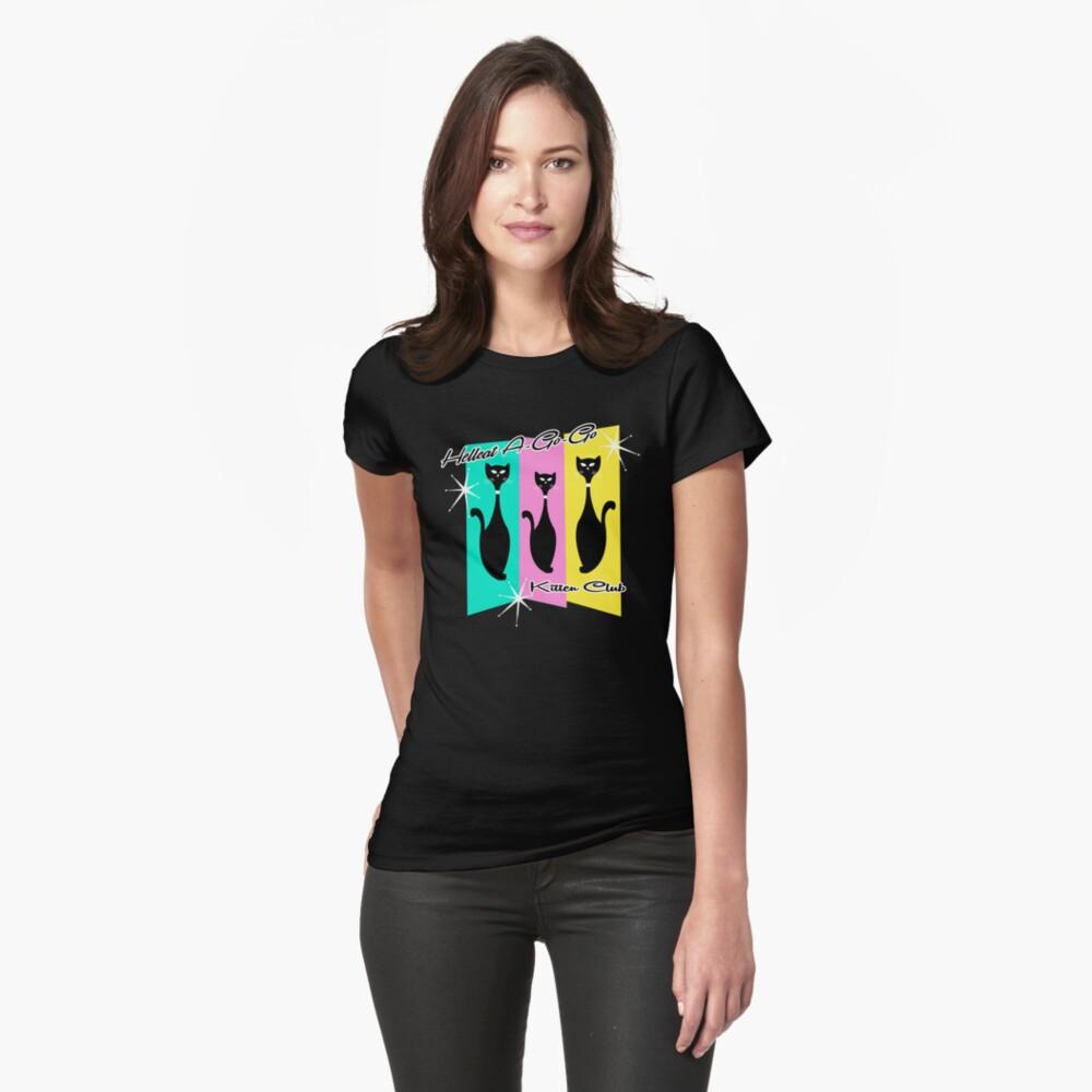 Hellcat A-Go-Go Kitten Club Fitted T-Shirt