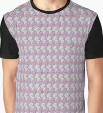 Pink and gray tiling cats Graphic T-Shirt