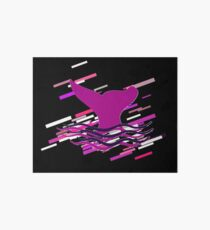 Fin ocean Eighties Retro Violet and Purple Art Board