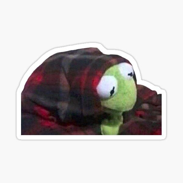 kermit blanket comfy Sticker