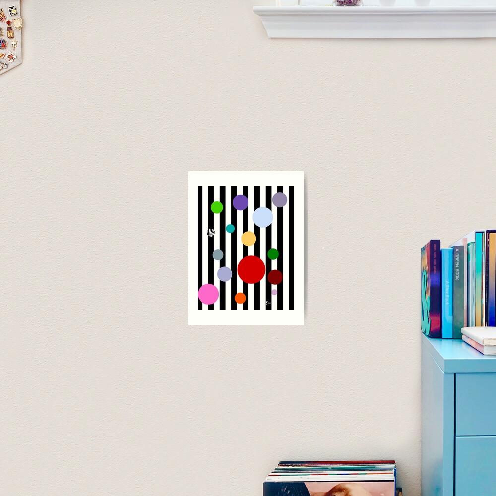 Geometrics- Stripes and Polka Dots Art Print