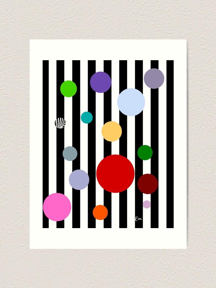 Alternate view of Geometrics- Stripes and Polka Dots Art Print