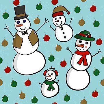 Snowman Family Pattern by pamela4578