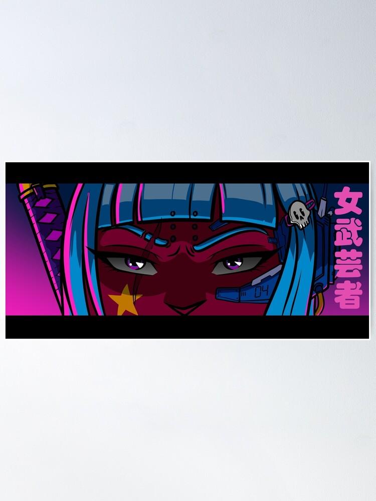 Alternative Ansicht von Cyberpunk Onna-Bugeisha Poster