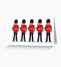 British Guardsmen Parade Greeting Card