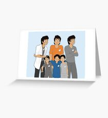 The Hopeless, Rose-Colored, and Original Subjects and Scientists Greeting Card