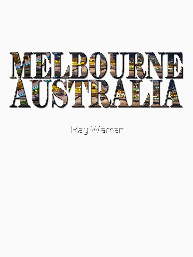 Melbourne Australia (on white) by RayW