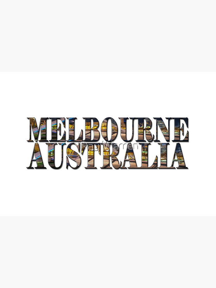 Melbourne Australia (on white) by RayW