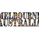 Melbourne Australia (on white) by Ray Warren