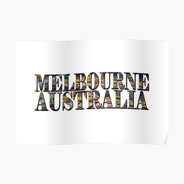 Melbourne Australia (on white) Poster