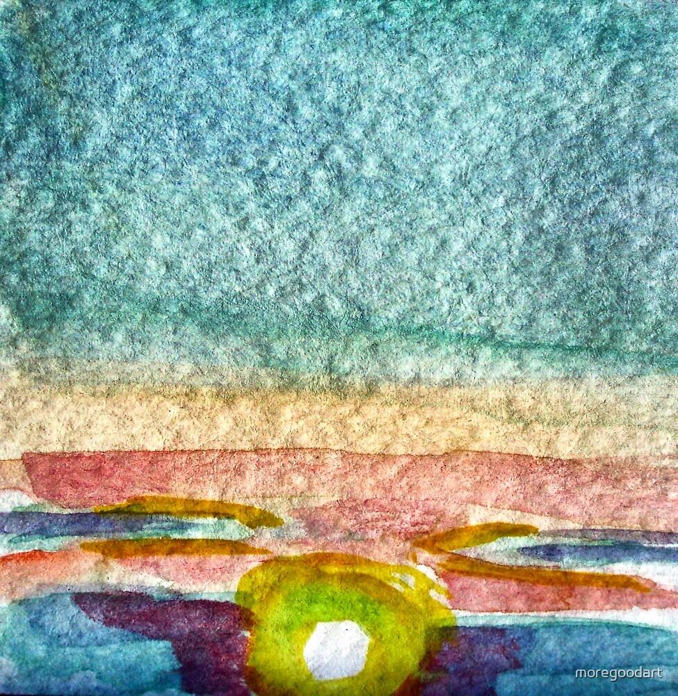 abstract sunrise by moregoodart