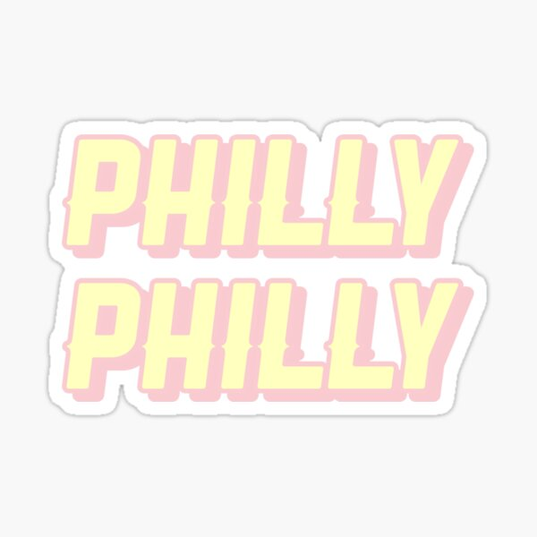 philly philly-Philadelphia eagles fan art Sticker