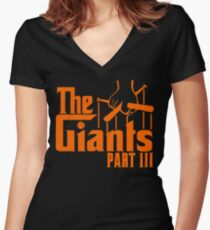 The GIANTS Women's Fitted V-Neck T-Shirt