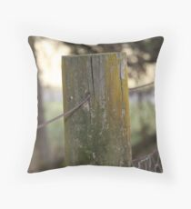 old fence post  Throw Pillow