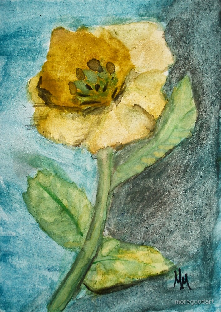 Yellow flower by moregoodart