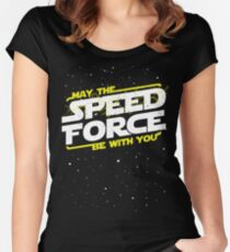 May The Speed Force Be With You Women's Fitted Scoop T-Shirt