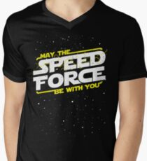 May The Speed Force Be With You Men's V-Neck T-Shirt