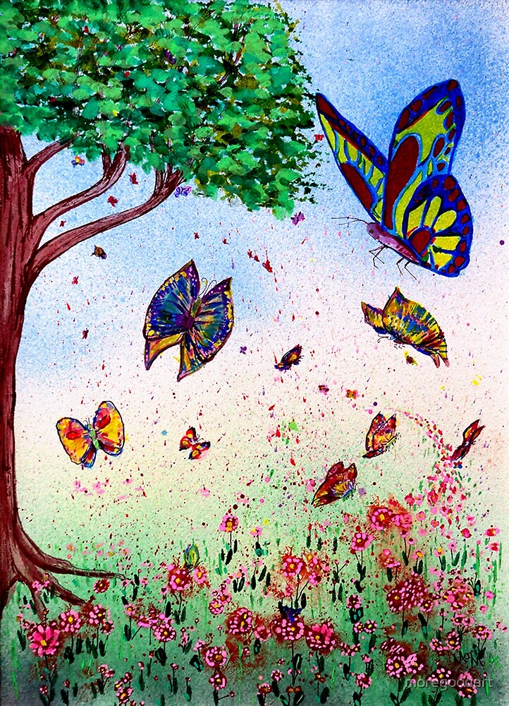Butterflies a many by moregoodart