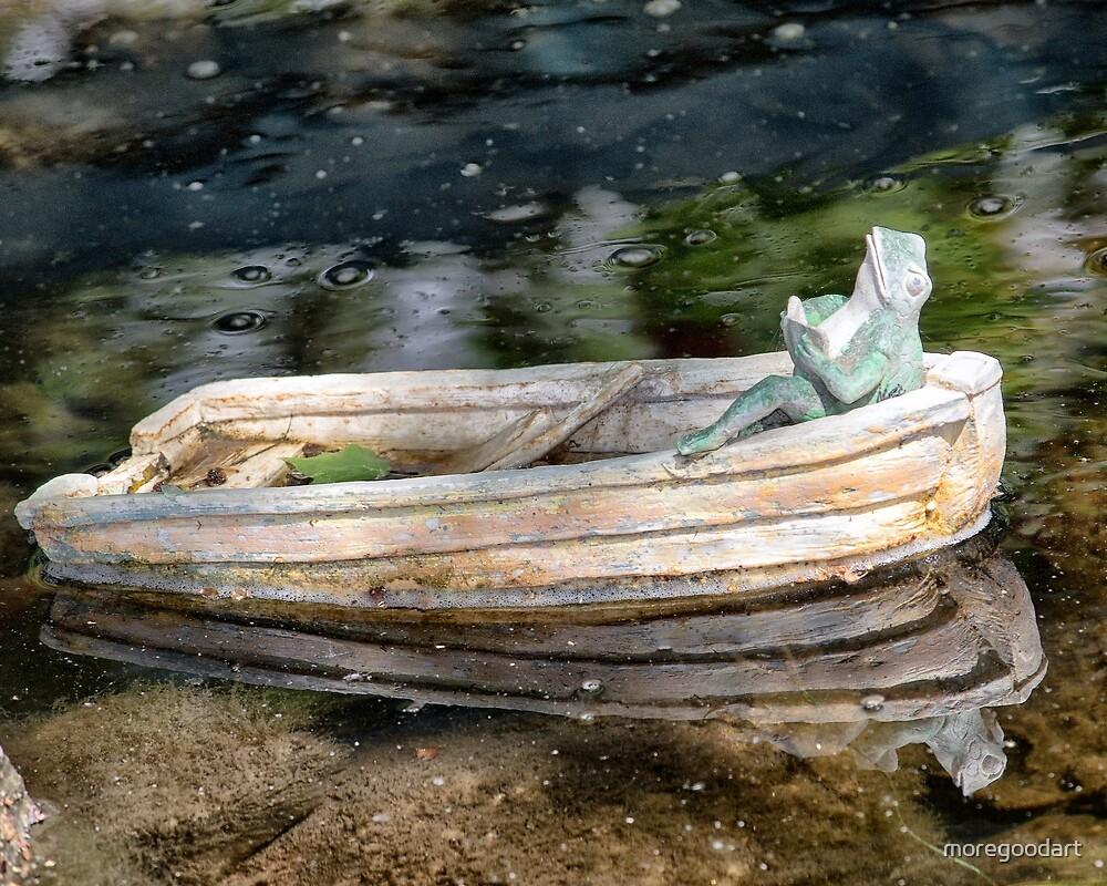 Frog in boat by moregoodart