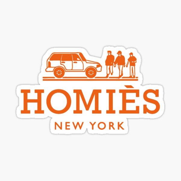 Logotipo de color naranja de Homies New York Pegatina