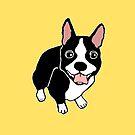 Happy Boston Terrier by Abigail Davidson