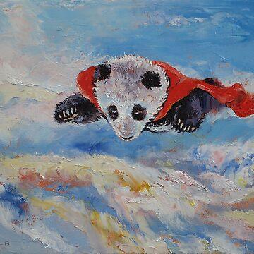 Panda Superhero by michaelcreese