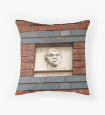 Birmingham Gas Street Basin - Thomas Telford Plaque (5086) Throw Pillow
