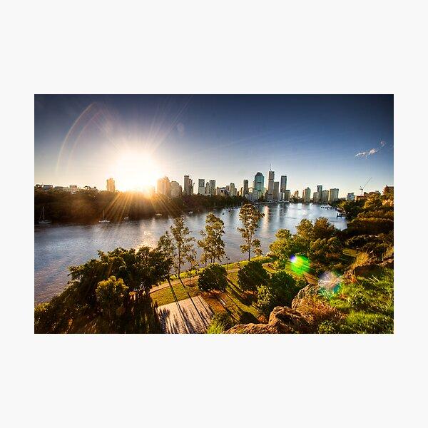 Brisbane City Sunset HDR Photographic Print