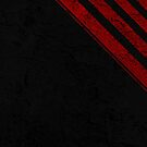 Black and red stripes grunge by Anteia