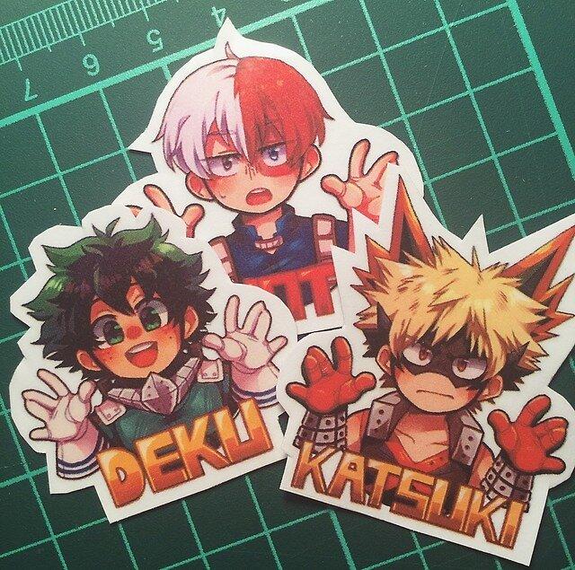 BNHA Name stickers by kiwwachii