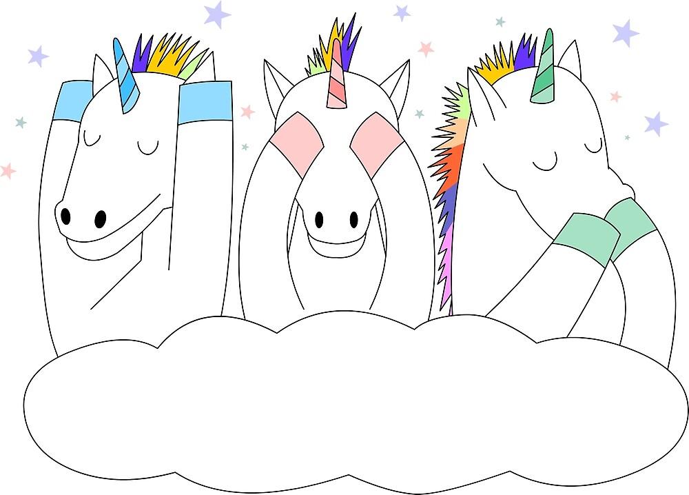 Tres unicornios by makinito33