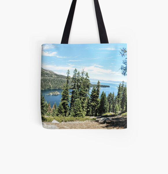 Emerald Bay Inspiration Point All Over Print Tote Bag