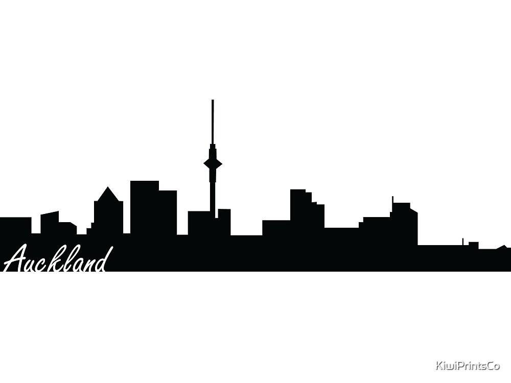 Auckland, New Zealand skyline  by KiwiPrintsCo