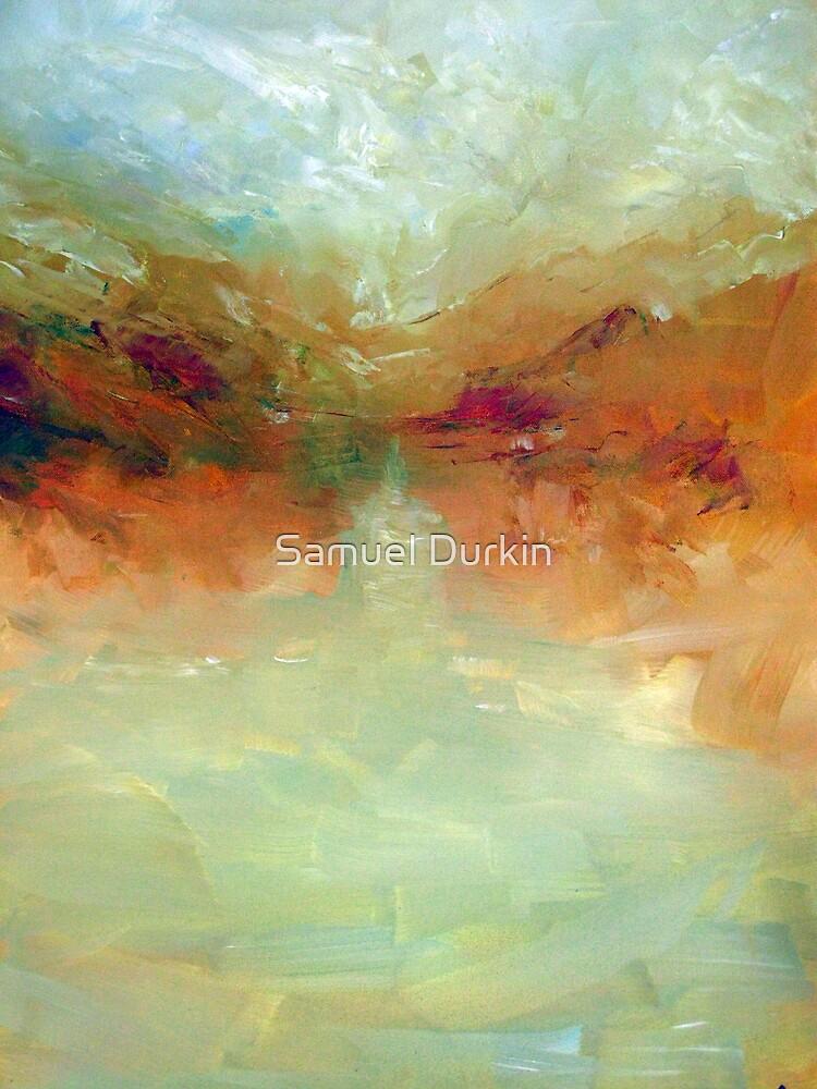 Lake: Abstract landscape by Samuel Durkin