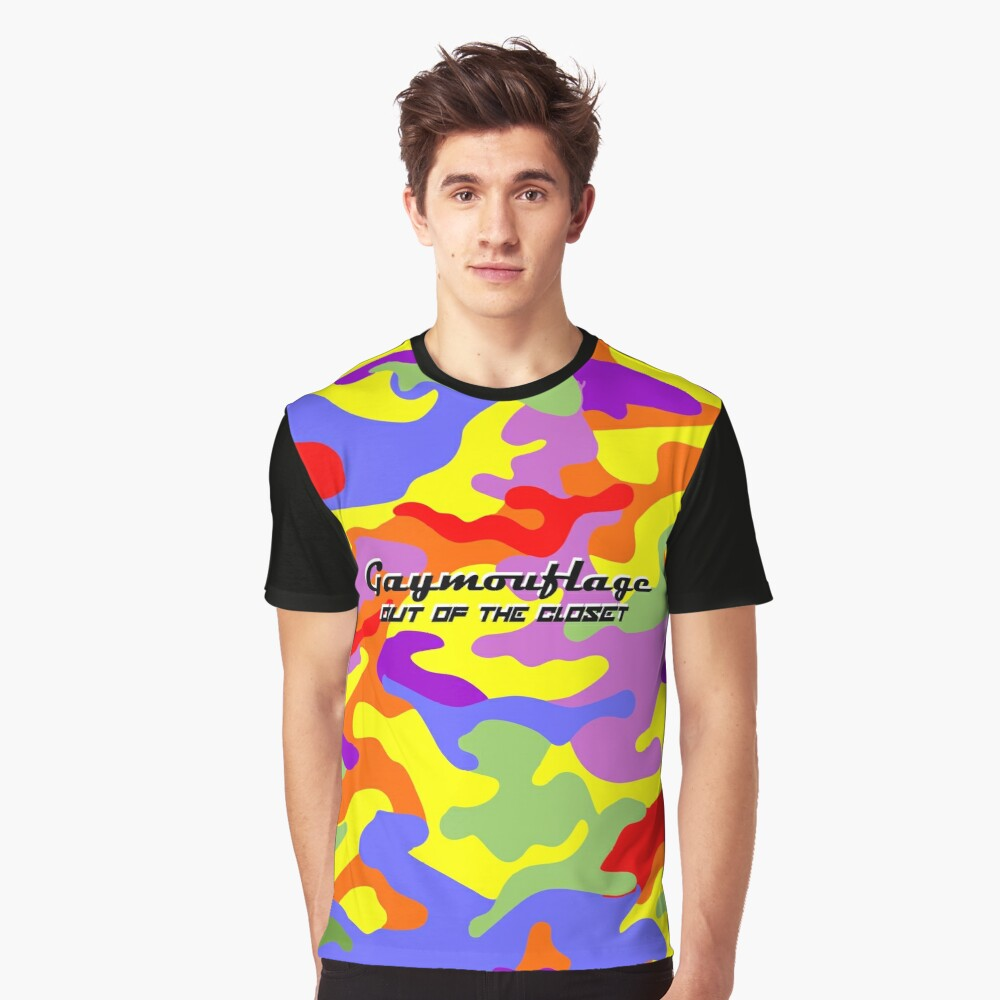 Gaymouflage - Out of the Closet Graphic T-Shirt Front