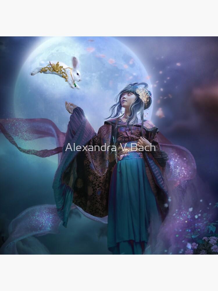 Moon Goddess Chang'e by ravendusk