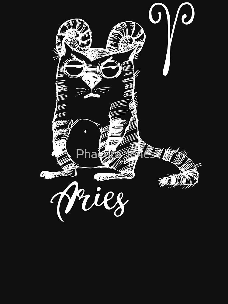 Funny Aries Cat Zodiac April Unisex Shirt Birthday Gift by Top10Merch