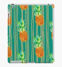 Grünes Türkis-Glitter-Ananas-Streifen-Druck-Muster iPad-Hülle & Klebefolie