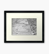 Newcastle Baths Jetty in High Sea Framed Print
