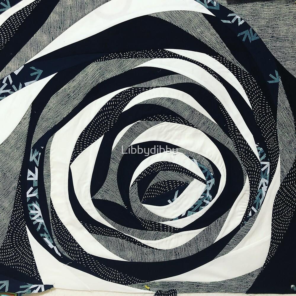 Noisy Flower - black & White  by Libbydibby