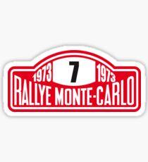 Rally Monte Carlo sticker Sticker