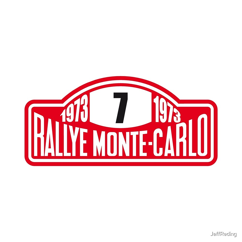 Rally Monte Carlo sticker by Jeff Reding
